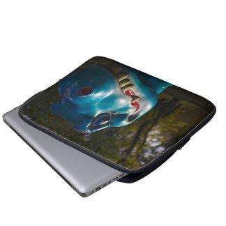 Blue Dinosaur Grinning Computer Sleeves