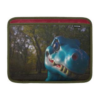 Blue Dinosaur Grinning MacBook Sleeve
