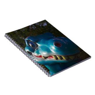 Blue Dinosaur Grinning Spiral Note Book