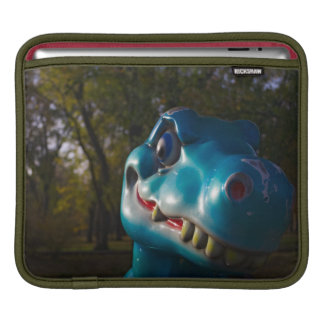 Blue Dinosaur Grinning Sleeve For iPads