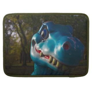 Blue Dinosaur Grinning Sleeve For MacBooks