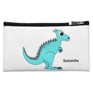 Blue Dinosaur Makeup Bag