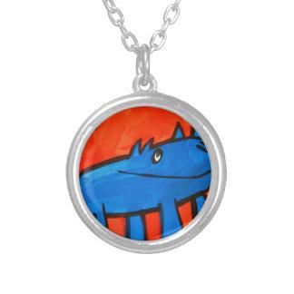 Blue Dinosaur Custom Necklace