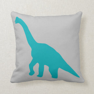 Blue Dinosaur pillow light Grey