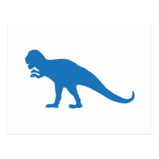 Blue Dinosaur Postcard