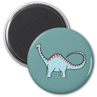 Blue Diplodocus 2 Inch Round Magnet