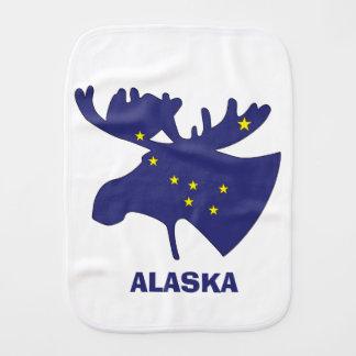 Blue Dipper Moose Burp Cloth