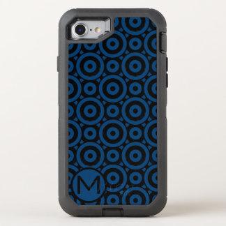 Blue Disc Monogram OtterBox Defender iPhone 8/7 Case