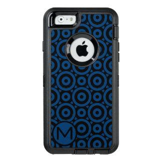 Blue Disc Monogram OtterBox Defender iPhone Case