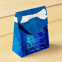 Blue Disco Ball and Sparkle Heels Favor box
