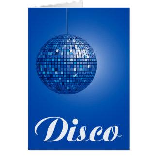 blue disco ball cards