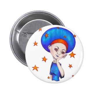 Blue Disco Button