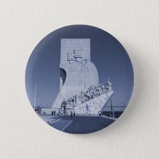 Blue Discoveries Monument 1 Padrão Descobrimentos Button