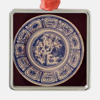 Blue dish, deriving from a late Ming Export Metal Ornament