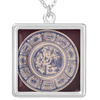 Blue dish, deriving from a late Ming Export Silver Plated Necklace