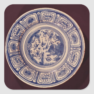 Blue dish, deriving from a late Ming Export Square Sticker