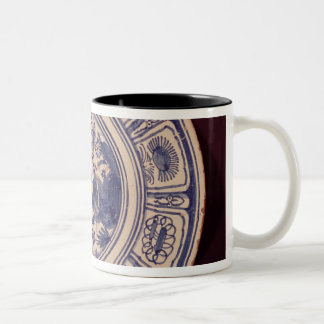 Blue dish, deriving from a late Ming Export Two-Tone Coffee Mug
