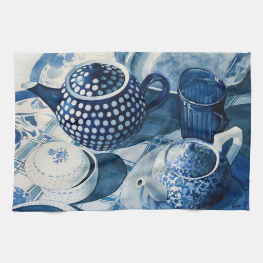 Blue Dishes Kitchen Towel
