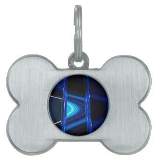 Blue Distraction Pet Name Tag
