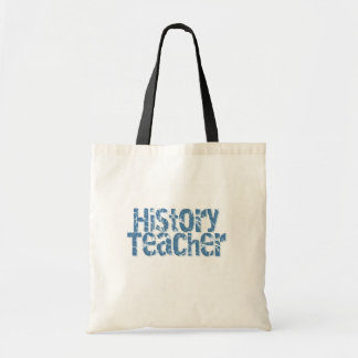 Blue Distressed History Teacher Tshirts and Gifts Canvas Bags