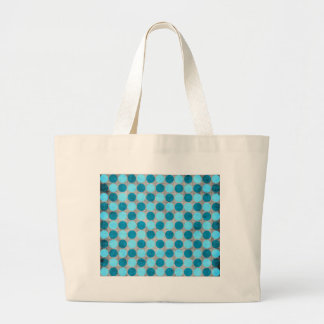 Blue Distressed Polka Dotted Bags