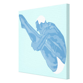 Blue Diver Wrapped Canvas Stretched Canvas Prints
