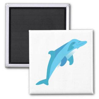 Blue Diving Dolphin Fridge Magnet
