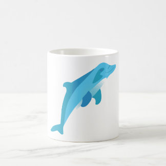 Blue Diving Dolphin Coffee Mugs