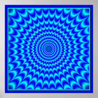 Blue Dizzy Does It Poster