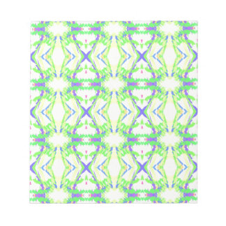 Blue DNA shape With Green Yellow Tribal Pattern Notepad