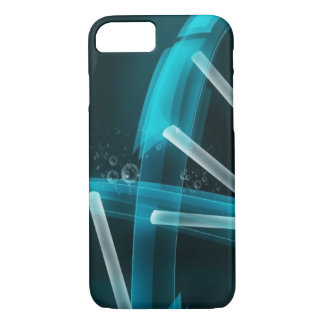 Blue DNA Strand of Evolution iPhone 7 Case