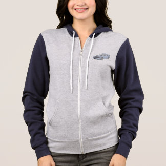 Blue Dodge Challenger Pencil Drawing Women's Hoodie