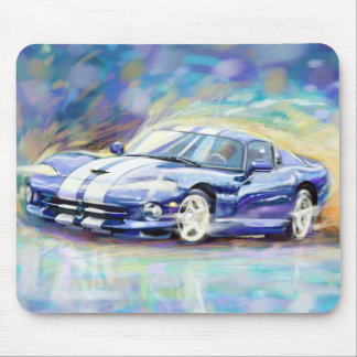 BLUE DODGE VIPER MOUSE PAD