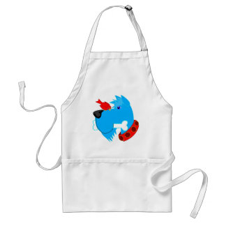Blue dog adult apron