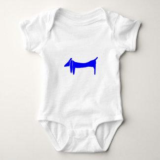 Blue Dog Dachshund Abstract Baby Bodysuit