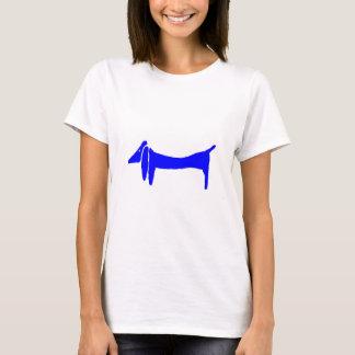 Blue Dog Dachshund Abstract T-Shirt