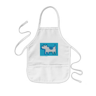 'blue dog' digital painting Poster Aprons