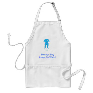 Blue Dog Ears Down Daddy's Boy Adult Apron