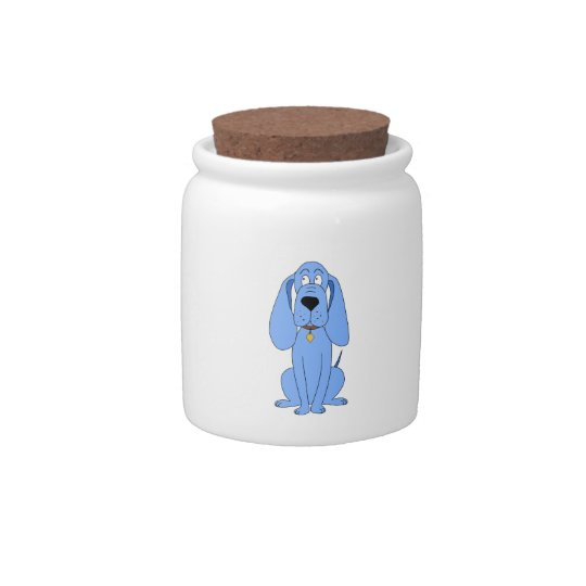 Blue Dog. Hound. Candy Jar