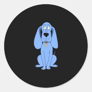 Blue Dog. Hound. Classic Round Sticker
