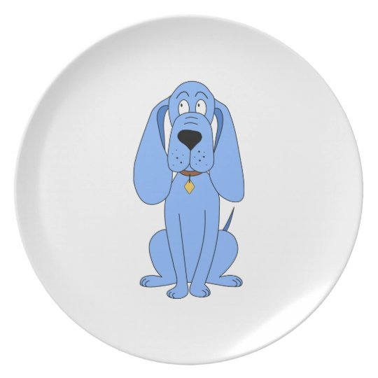 Blue Dog. Hound. Dinner Plate