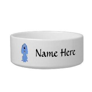 Blue Dog. Hound. Cat Water Bowl