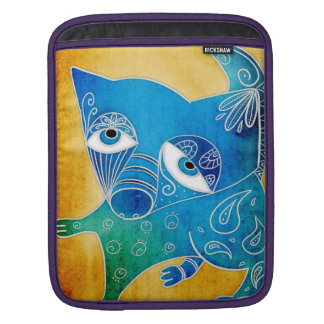Blue dog iPad sleeve