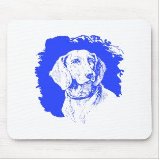 Blue Dog Mouse Pad