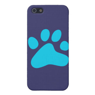 Blue Dog Paw Case For iPhone SE/5/5s
