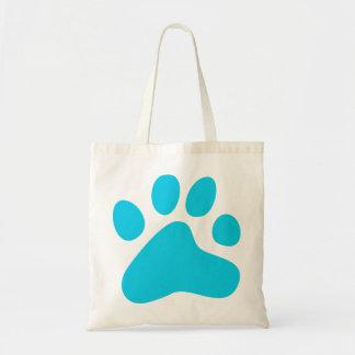 Blue Dog Paw Tote Bag