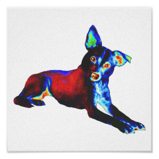 Blue Dog Print