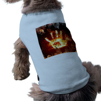 blue dog ribbed tanktop shirt