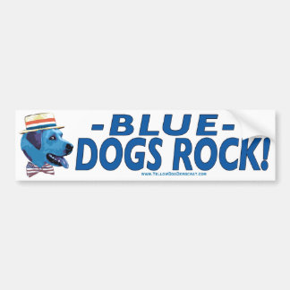 Blue Dog Rocks Bumper Sticker