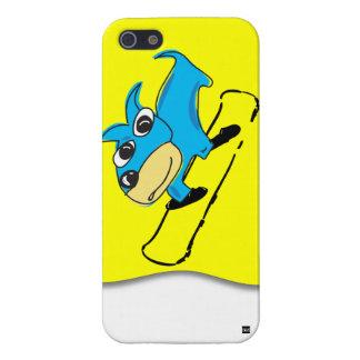 Blue Dog Snowboarding iPhone 5 Case